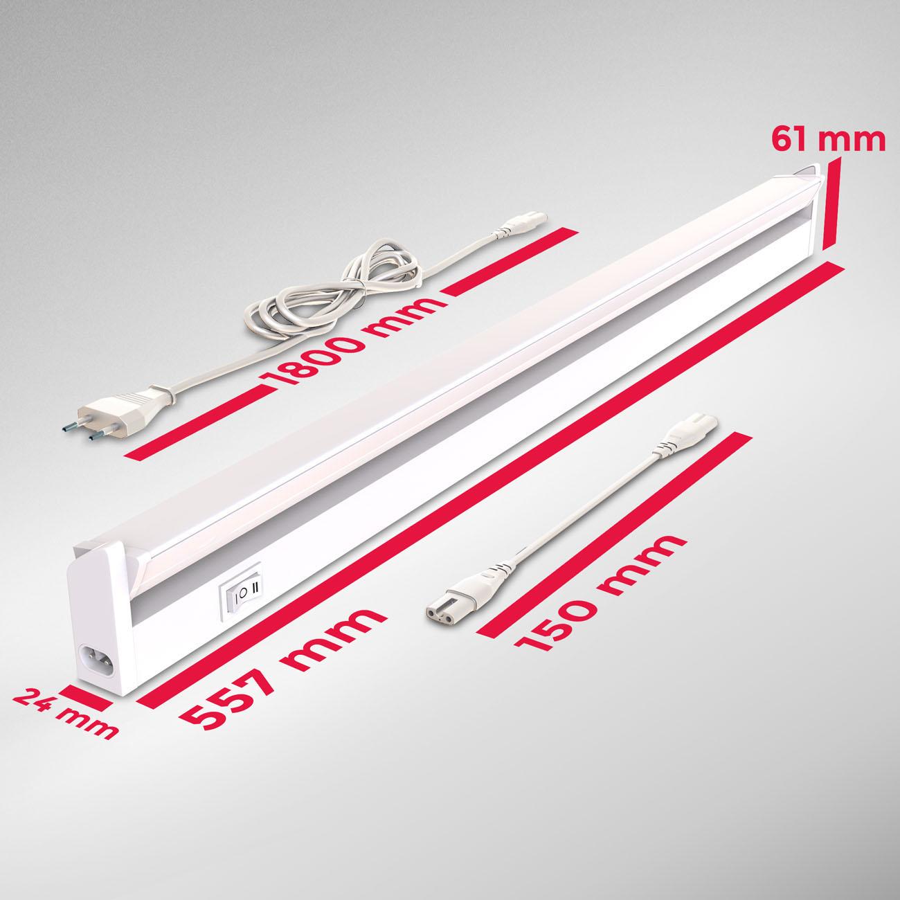 LED CCT Lichtleiste Unterschrankleuchte weiß - 7