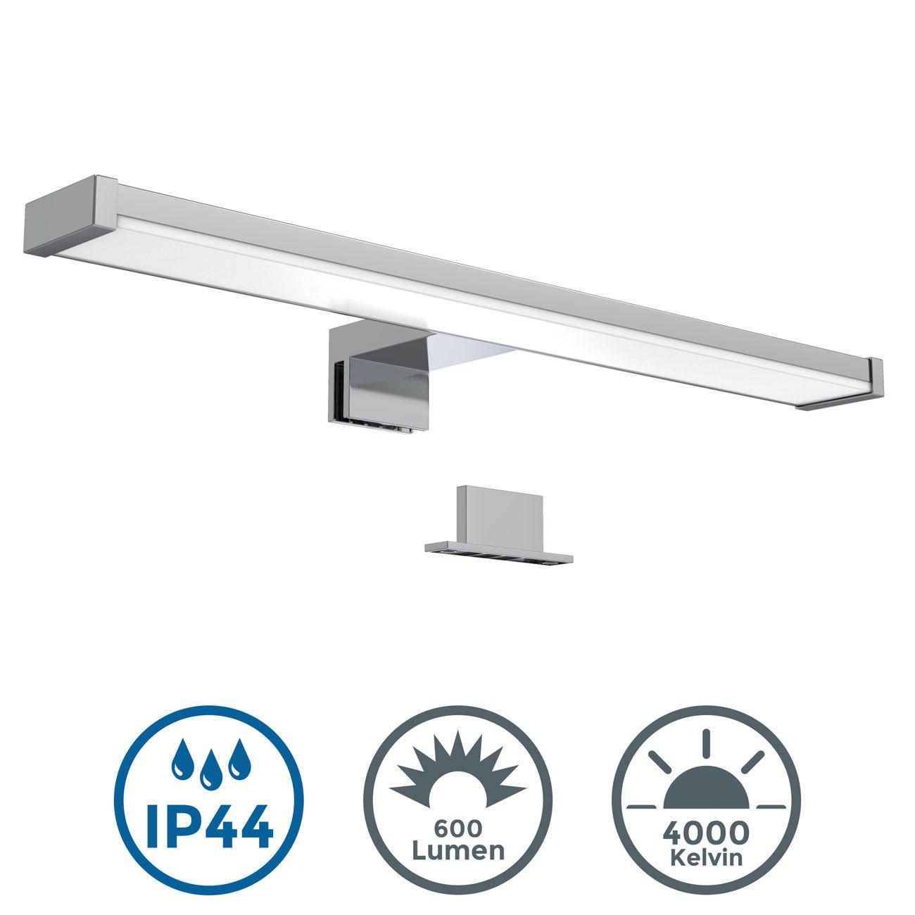 LED Spiegelleuchte Badlampe IP44 chrom - 3
