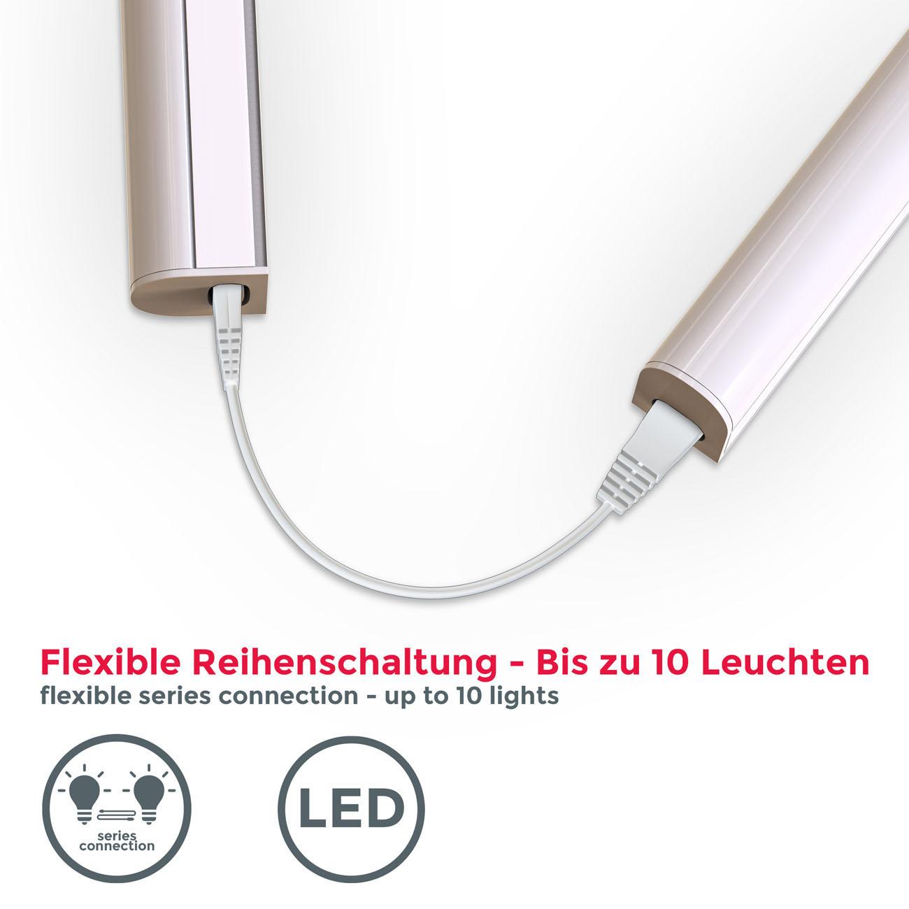 LED Unterbauleuchte mit Verbindungskabel weiß M - 7