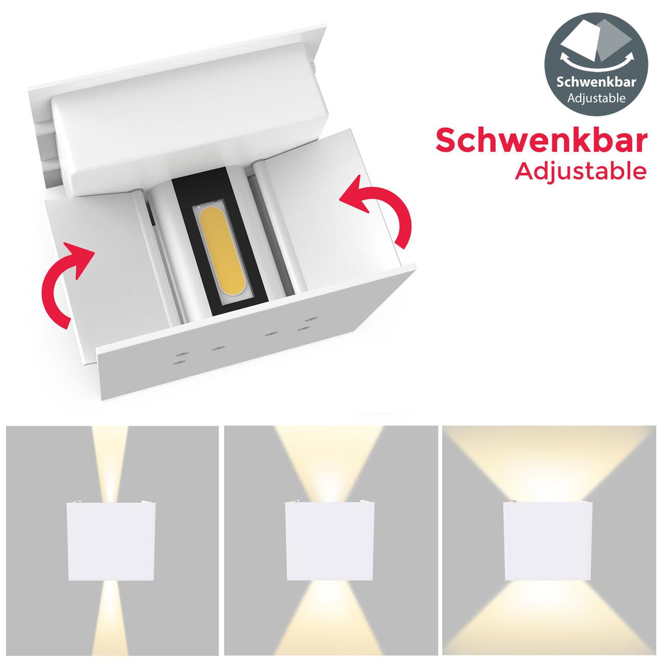 LED Wandleuchte Wandspot für Innen und Außen IP44 - 6