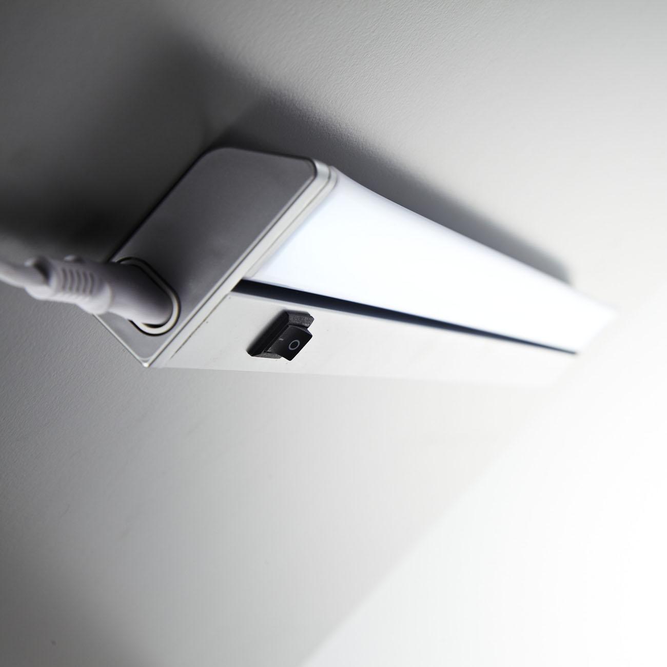 LED Schrankleuchte Unterbauleuchte silber-grau - 9