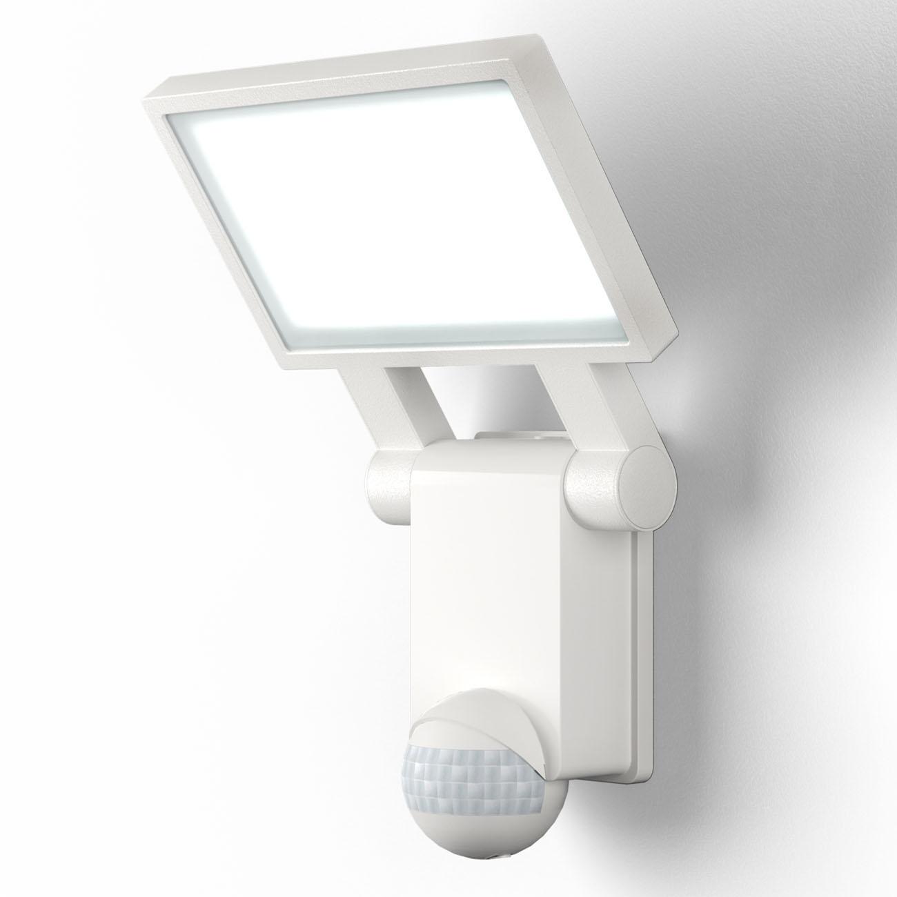 LED Außenleuchte mit Sensor weiß IP44