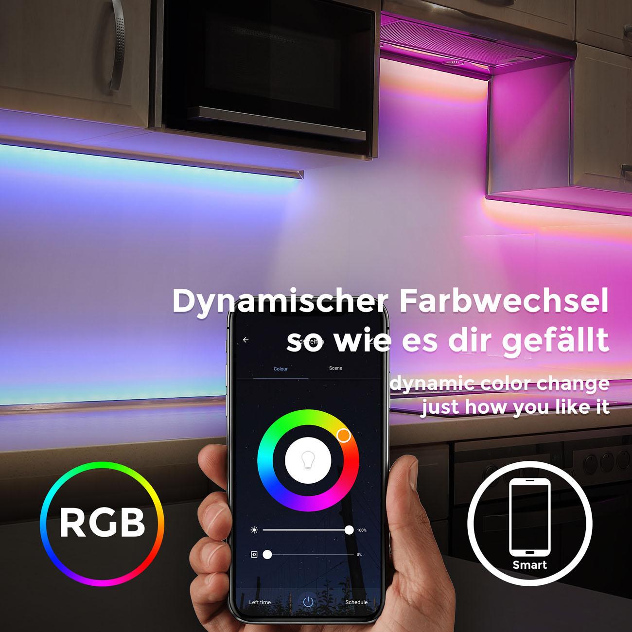 Smart WiFi LED RBG Stripe 5m - 6