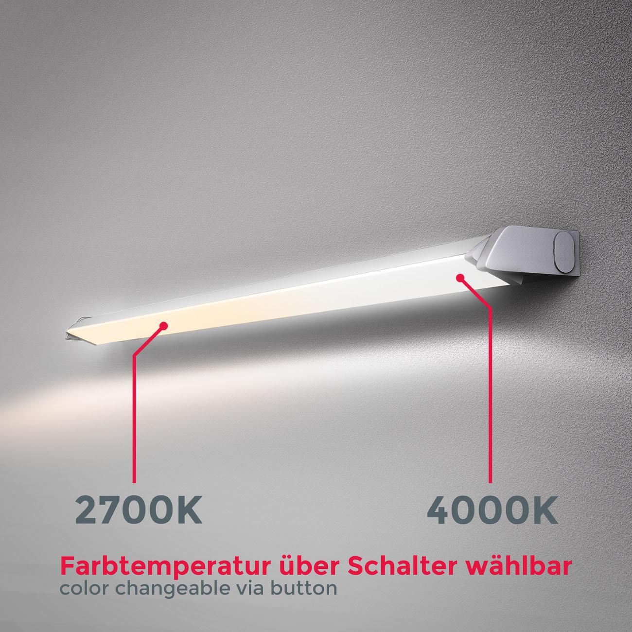 LED CCT Lichtleiste Unterschrankleuchte silber - 4