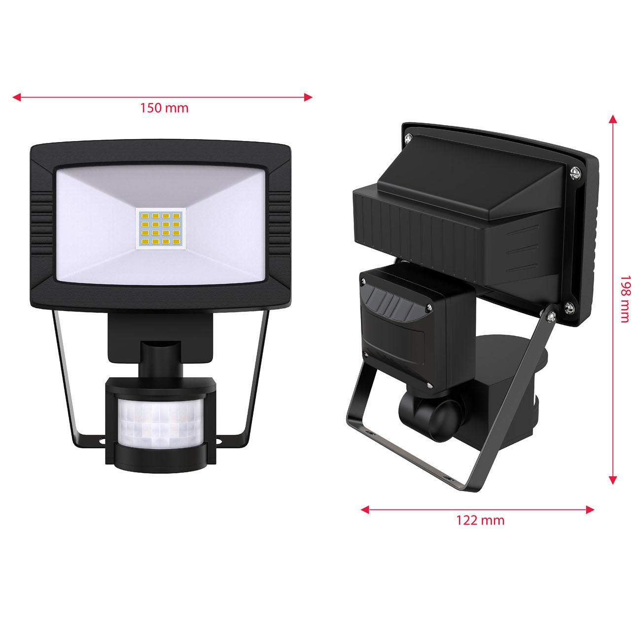 LED Außenstrahler mit Bewegungsmelder IP44 schwarz - 7