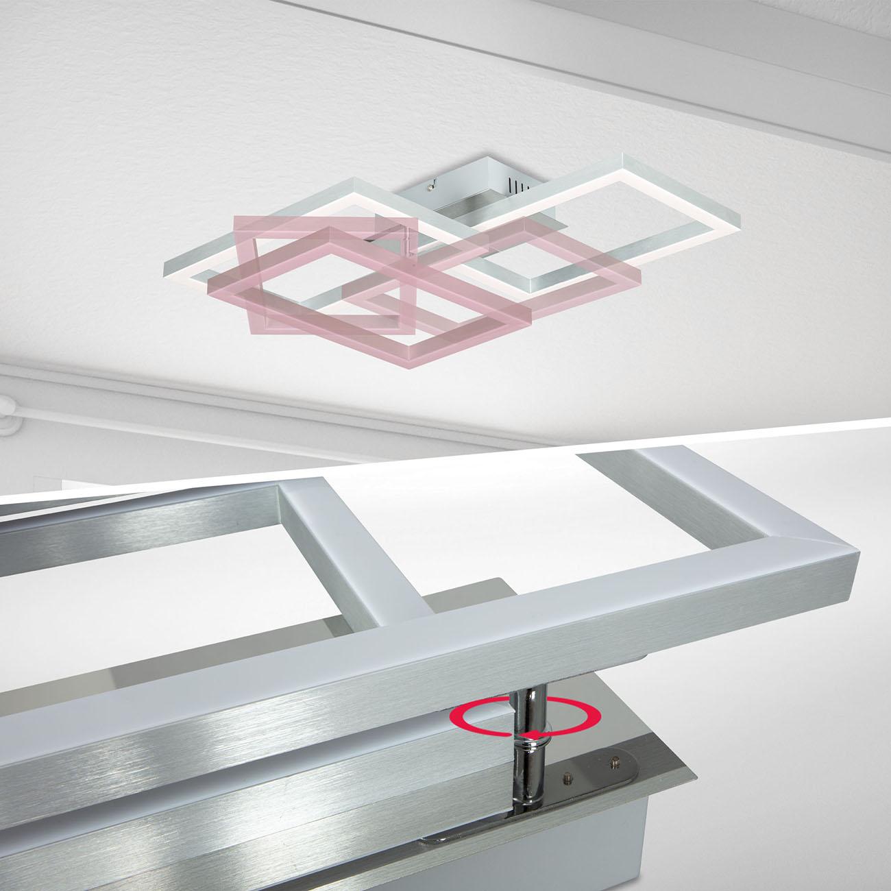 CCT RGB LED Frame Deckenleuchte schwenkbar 1-flammig mit Timer - 6