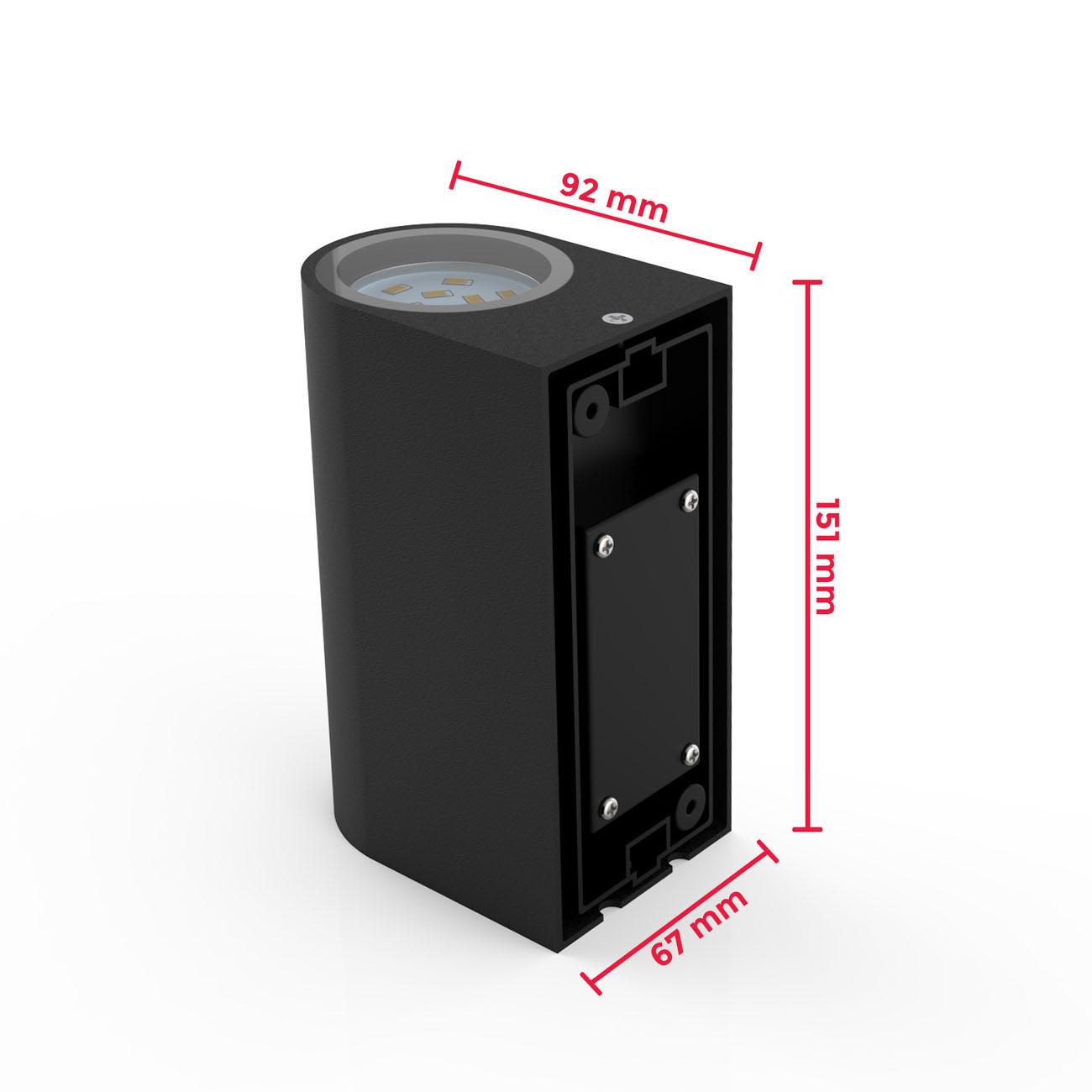 Wandleuchte für Innen und Außen schwarz GU10 - 7