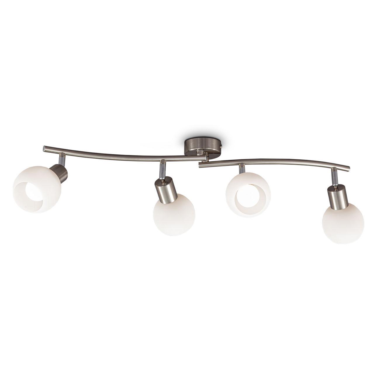 LED Deckenstrahler Deckenspot mit Opalglas 4-flammig