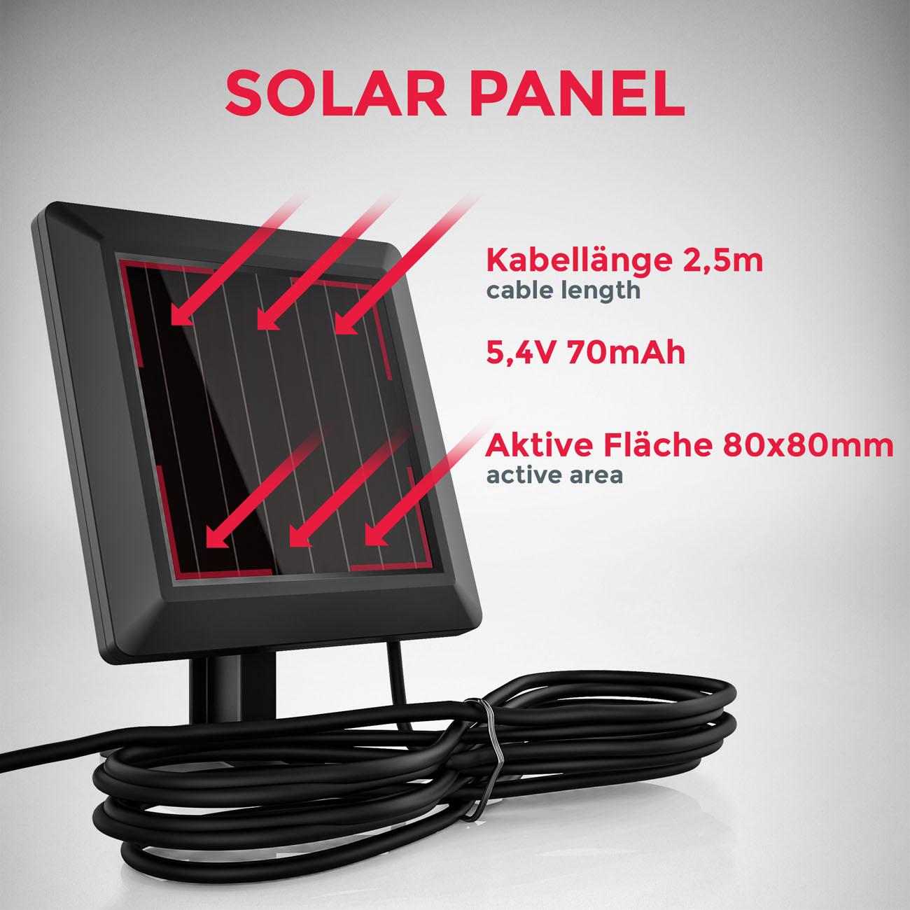 LED Außenleuchte mit Sensor Solar schwarz - 5