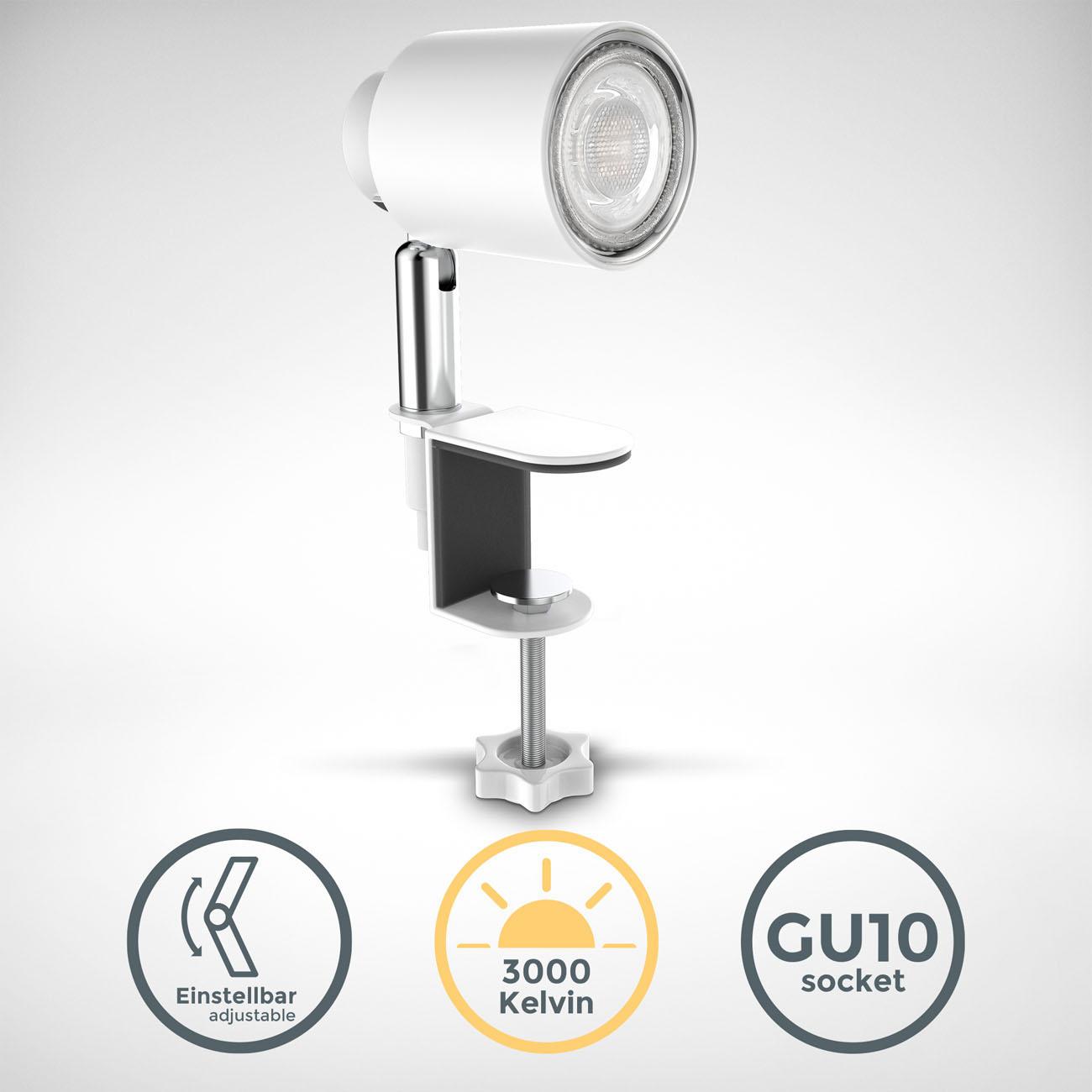 LED Klemmleuchte matt-weiß - 3