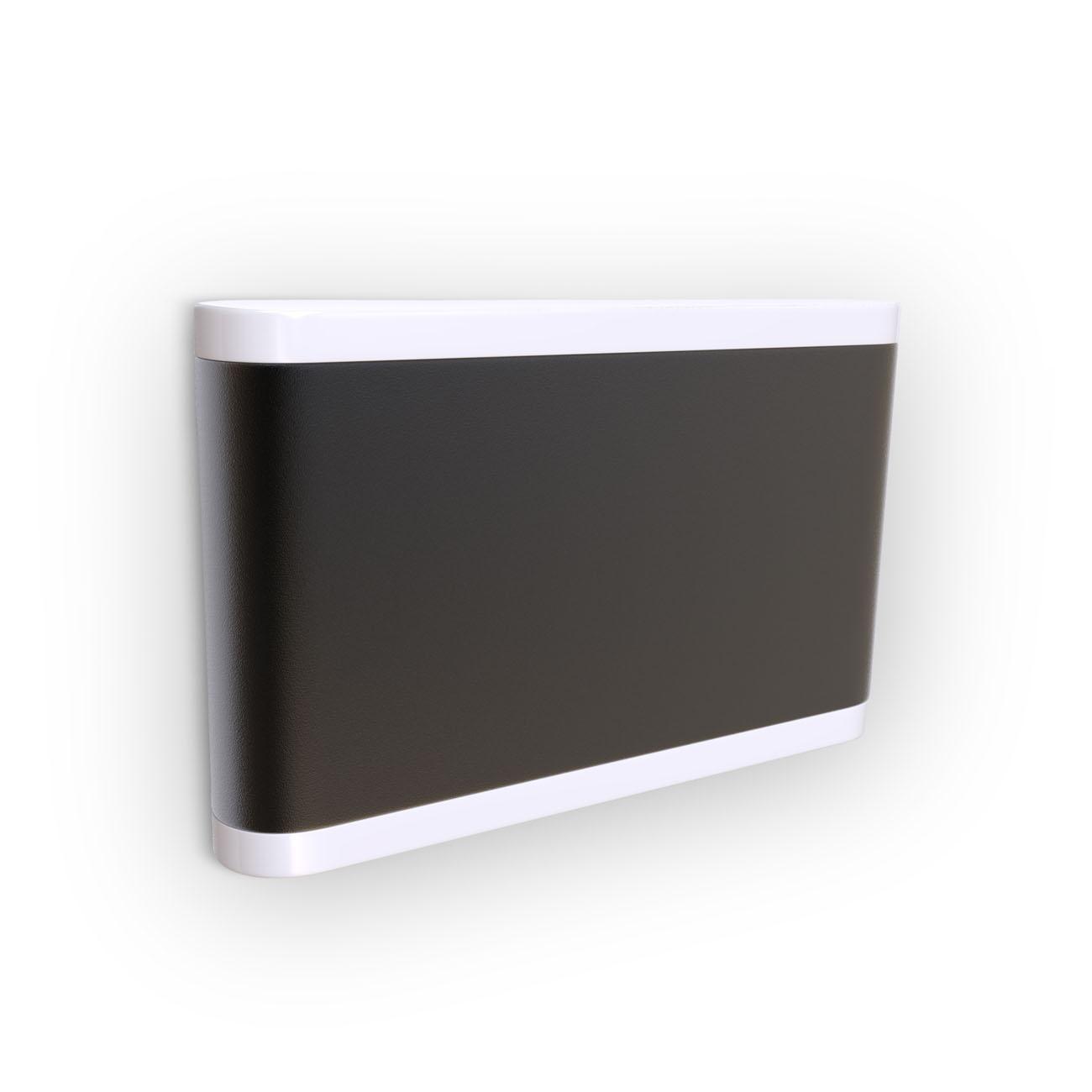 LED Außenleuchte 2-flammig schwarz IP44 - 1