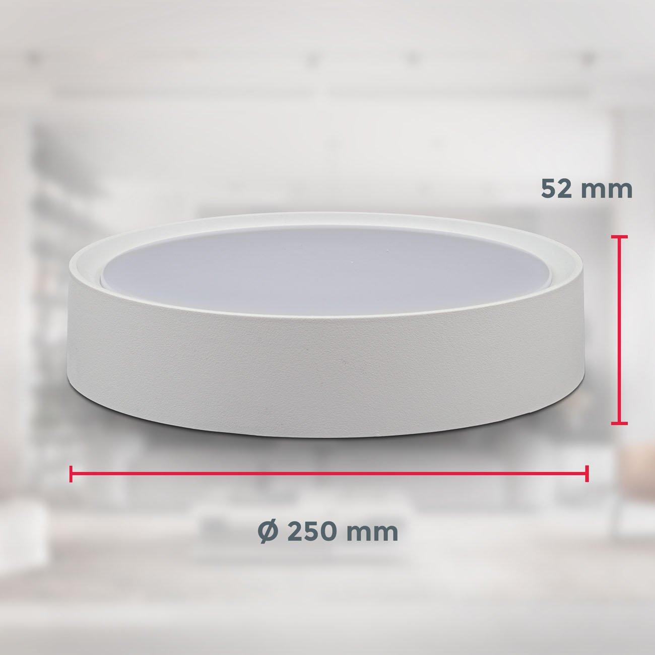 LED Deckenleuchte mit Sternendekor Ø 25 cm weiß-matt - 8
