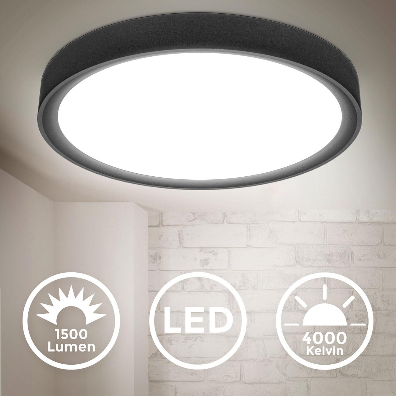 LED Deckenlampe neutralweiß rund schwarz - 3