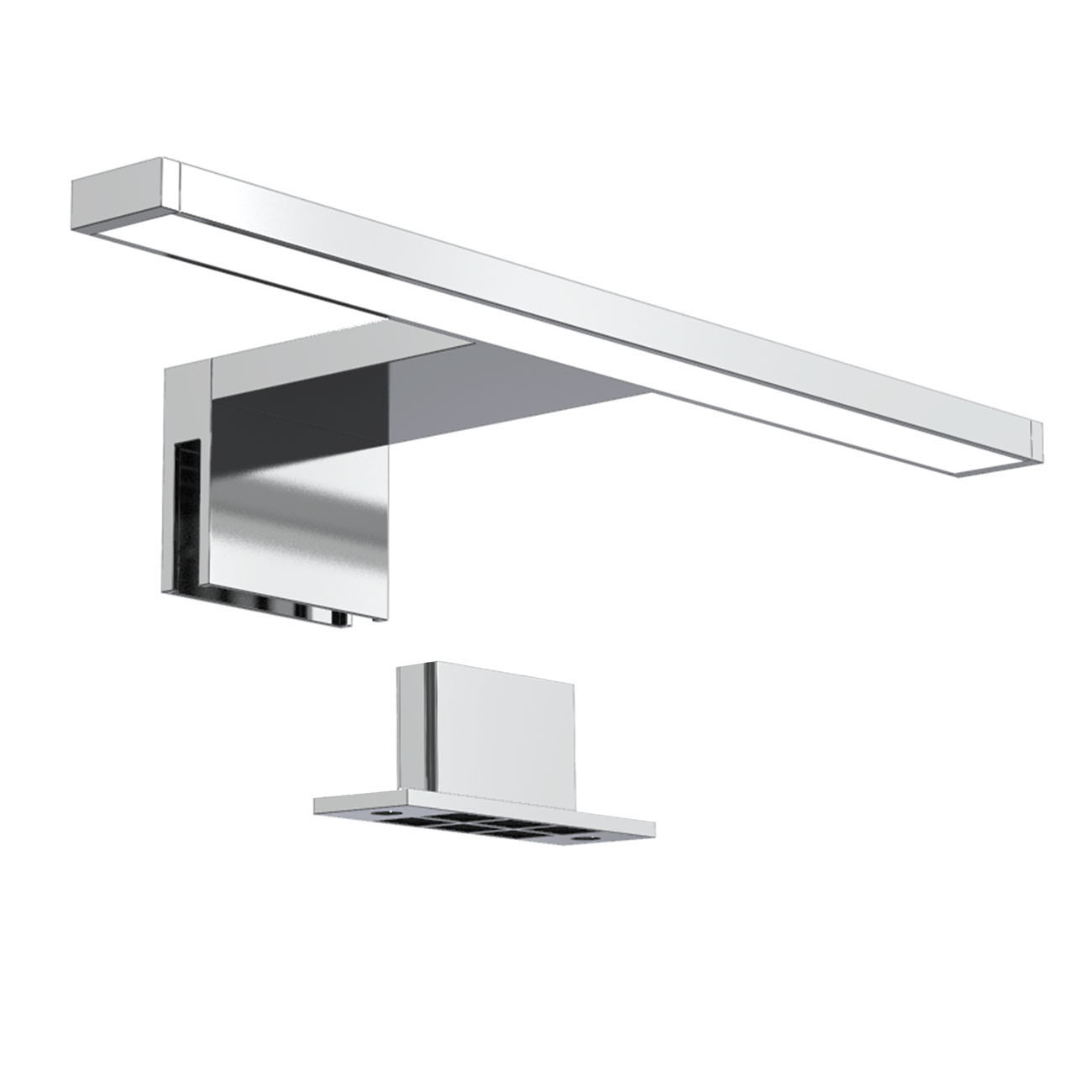 LED Spiegelleuchte Badlampe IP44 neutral-weiß S chrom - 1
