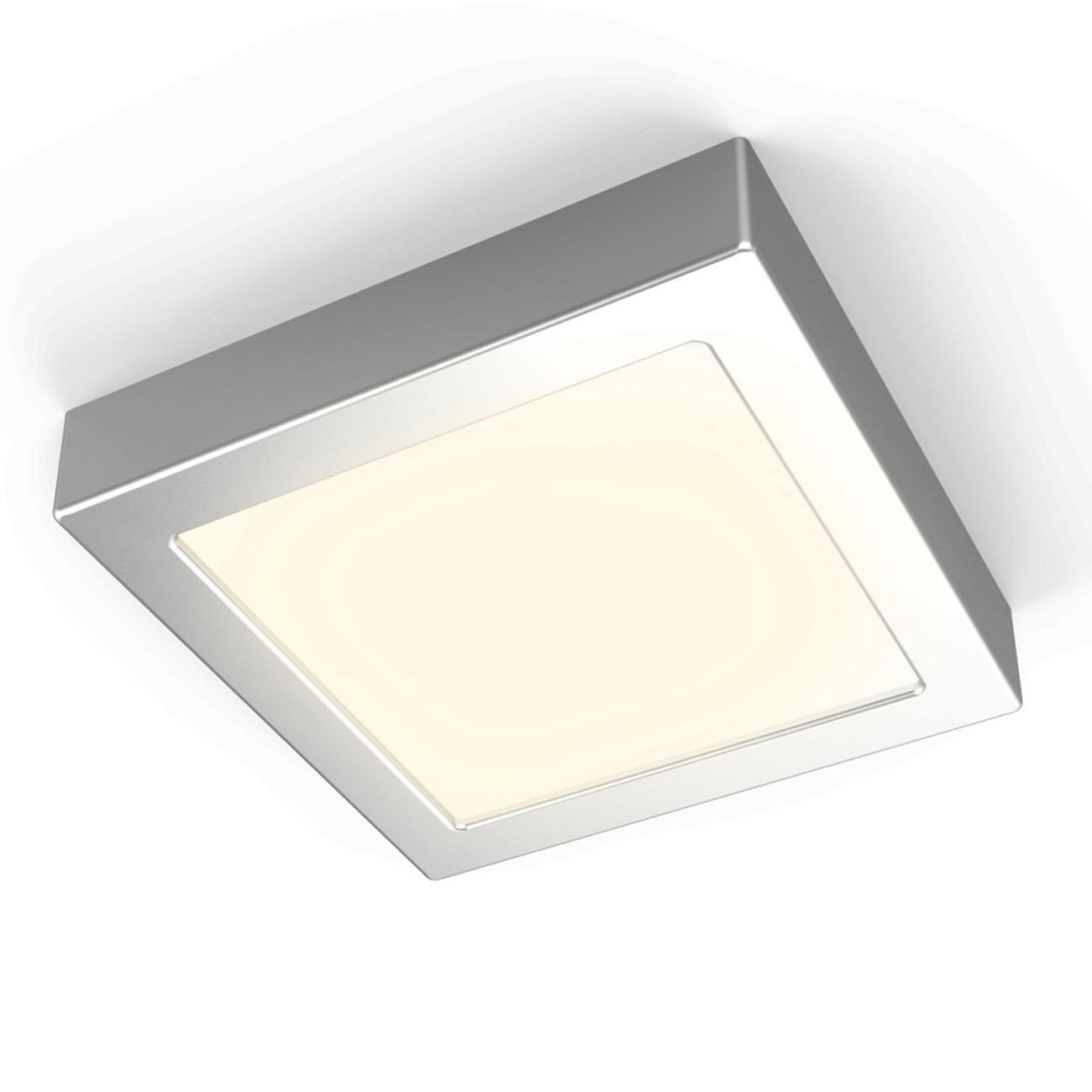 LED Aufbauleuchte Aufputzstrahler eckig grau