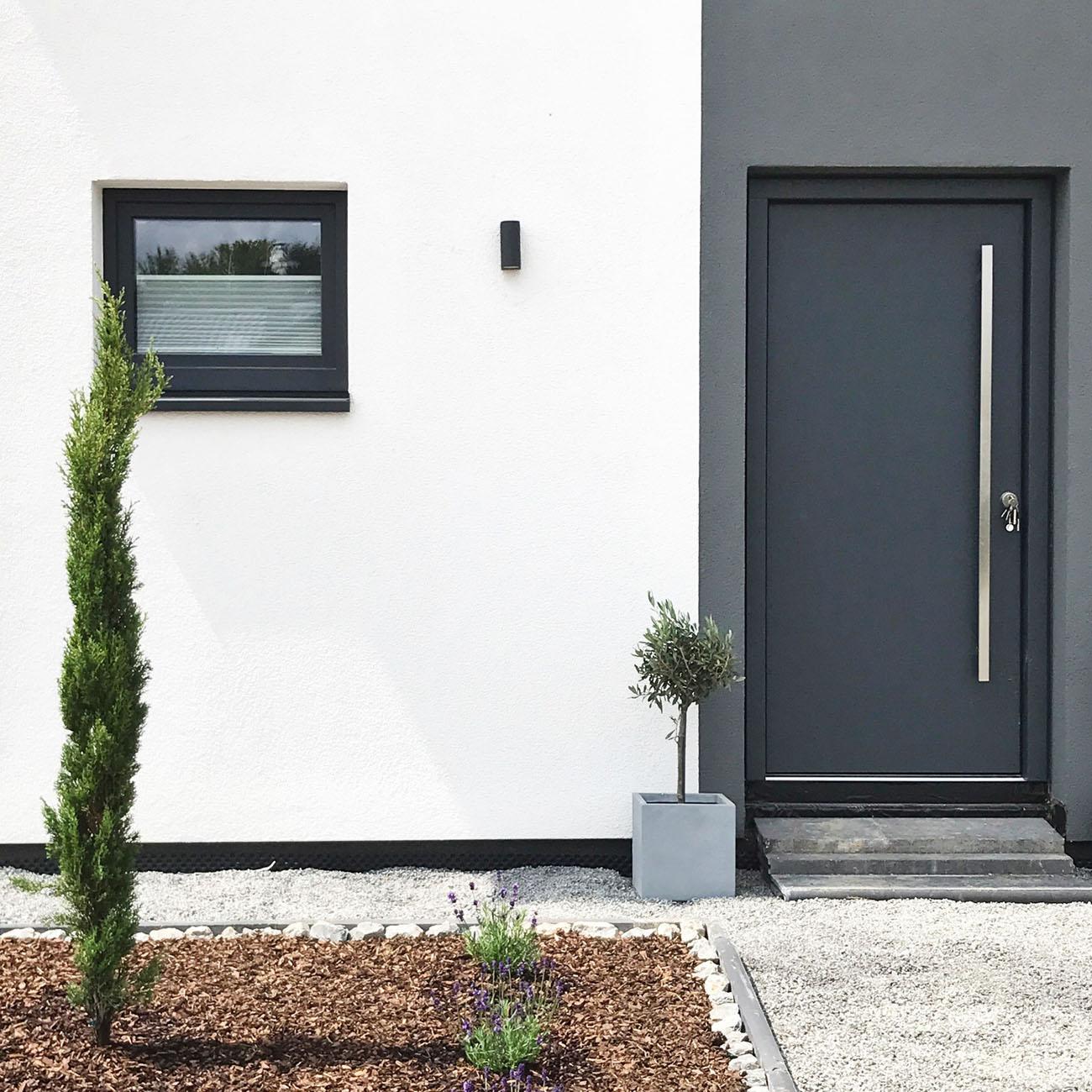 Wandleuchte für Innen und Außen schwarz GU10 - 2