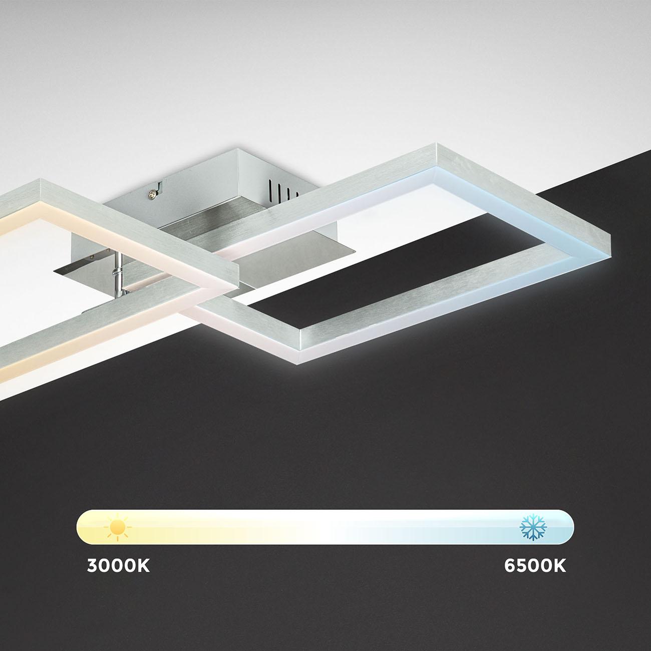 CCT RGB LED Frame Deckenleuchte schwenkbar 1-flammig mit Timer - 3