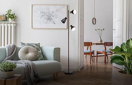 Stehleuchten und -lampen für das Wohnzimmer entdecken