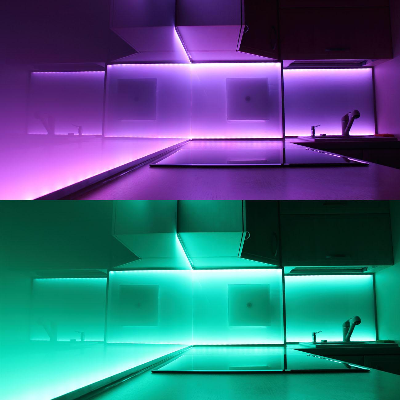 LED RGB Stripe Lichtband IP44  5m - 6