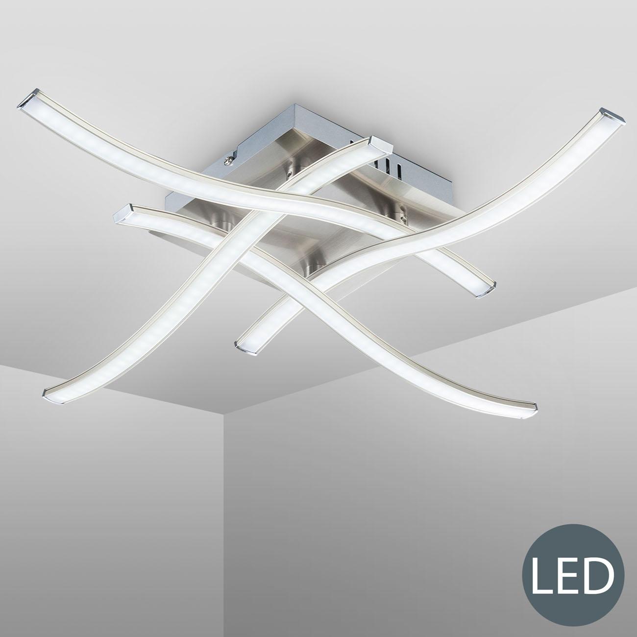 LED Design Deckenleuchte Wellenform 4-flammig  - 3