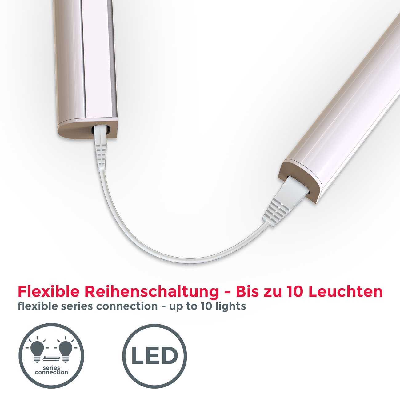 LED Unterbauleuchte mit Verbindungskabel weiß L - 6