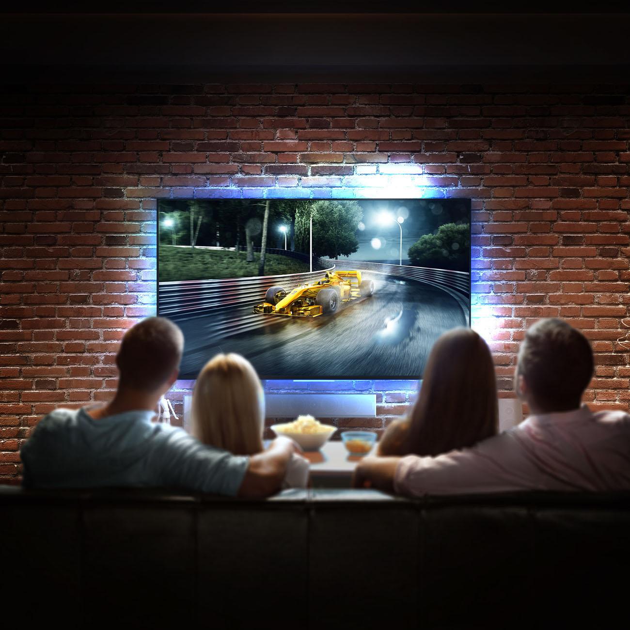 LED RGB TV Beleuchtungs Set 2m