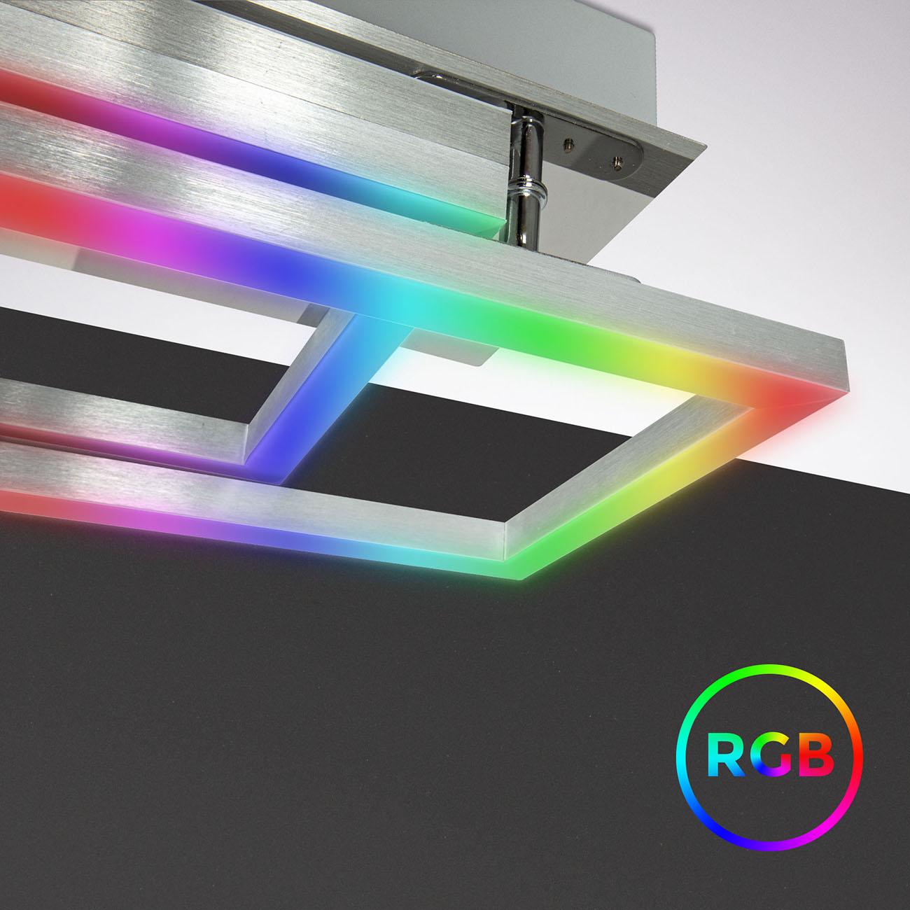 CCT RGB LED Frame Deckenleuchte schwenkbar 1-flammig mit Timer - 5