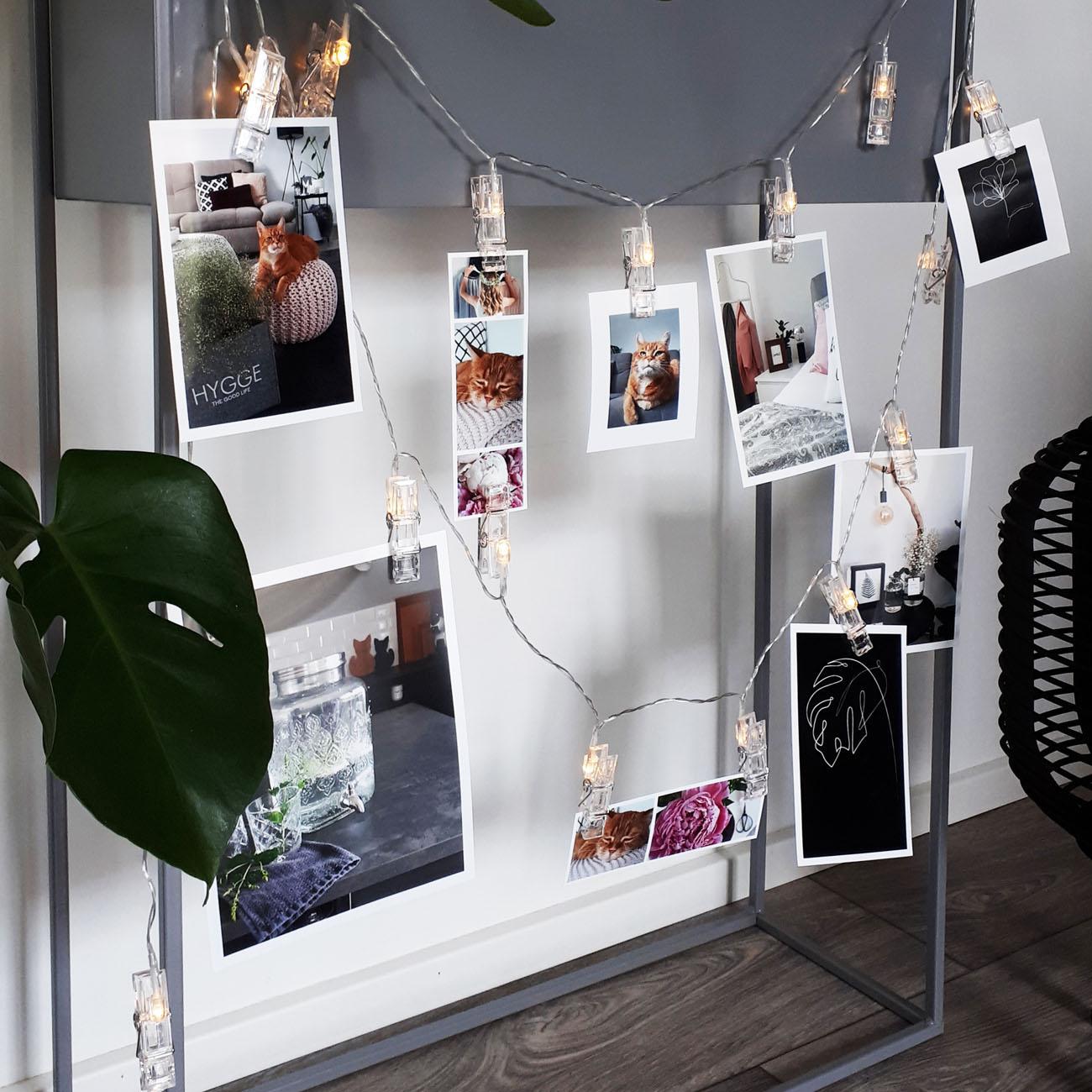 LED Fotolichterkette mit 40 Foto Clips 5m