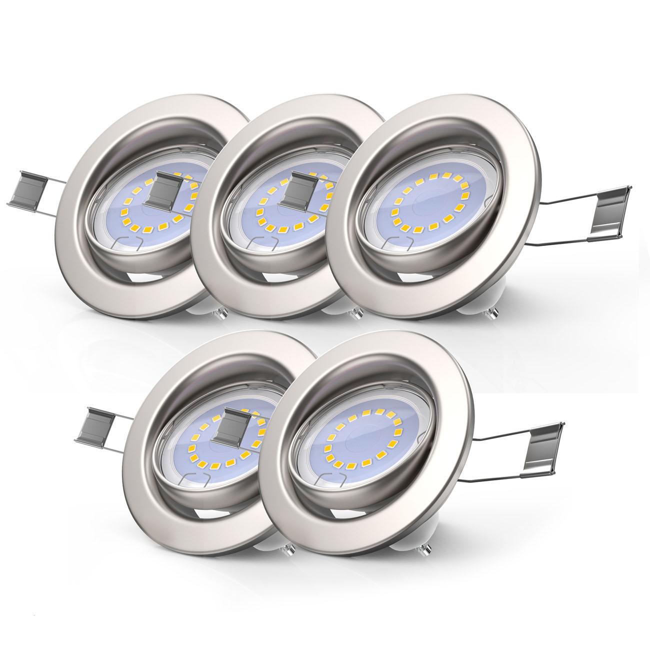 LED Einbaustrahler | Einbauleuchte 5er SET | 5W inkl.GU10 Stufendimmer Schwenkbar - 3