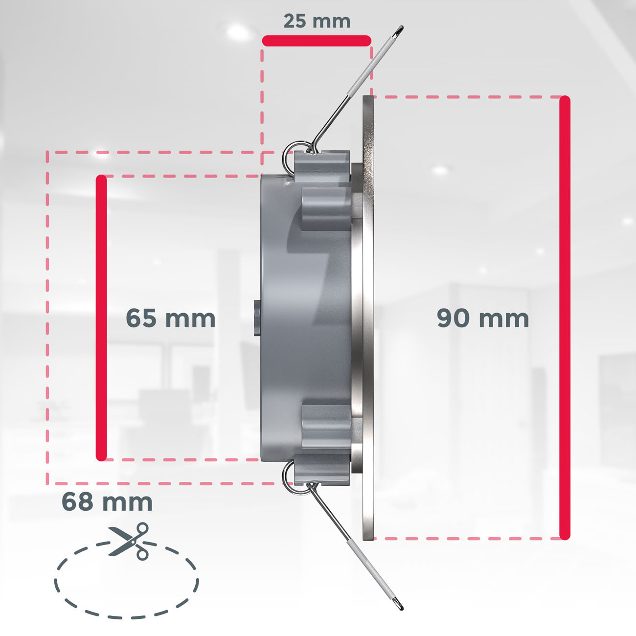 LED Einbaustrahler | Bad Einbauleuchte 3er SET | ultra flach 5W IP44 dimmbar - 7