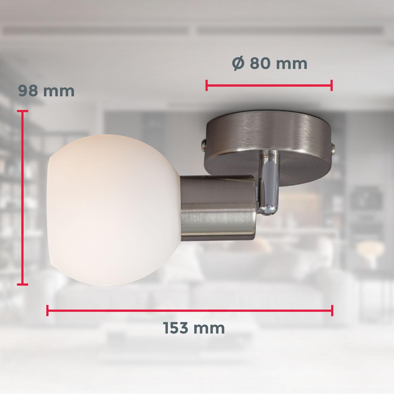 LED Deckenstrahler Deckenspot mit Opalglas - 6