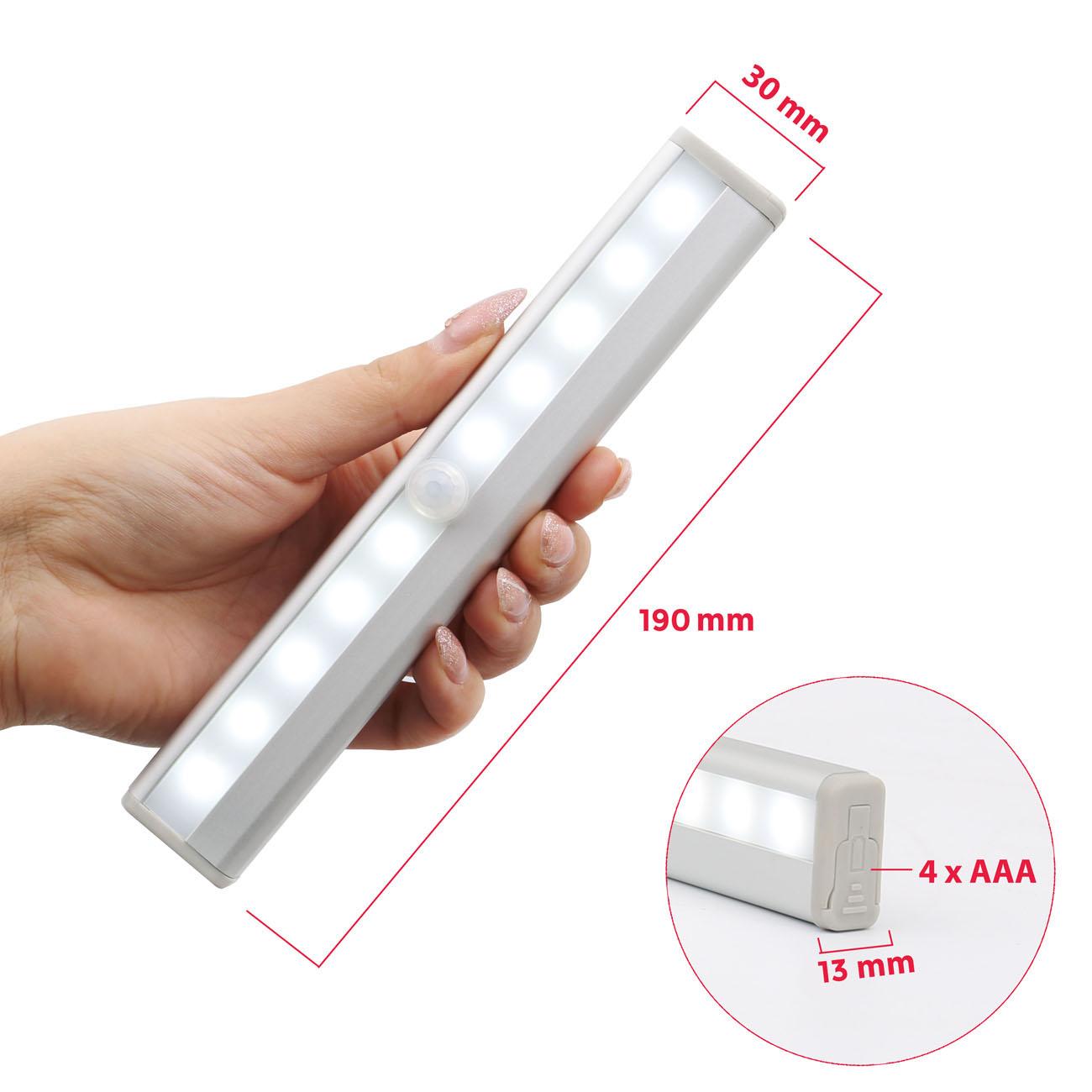 LED Schranklicht Nachtlicht mit Bewegungsmelder | 2er Set - 4