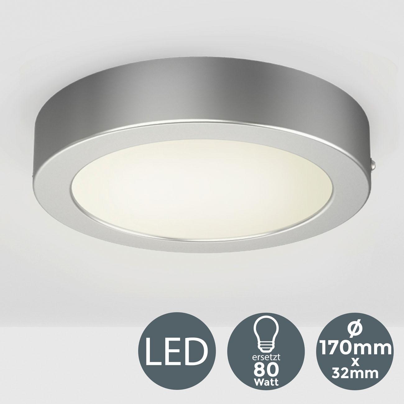 LED Aufbauleuchte Aufputzstrahler rund grau - 3