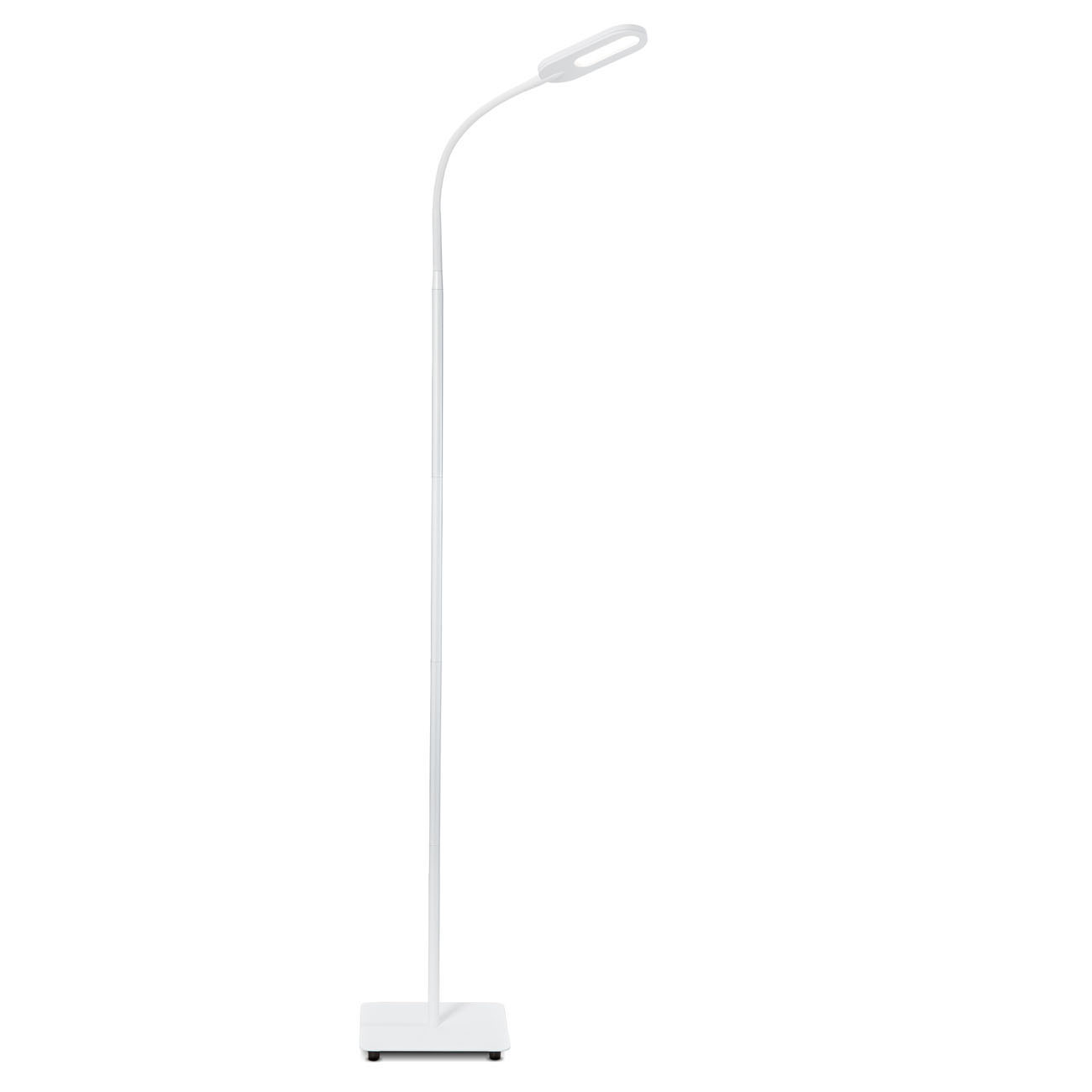 LED Design Stehleuchte dimmbar schwenkbar matt-weiß