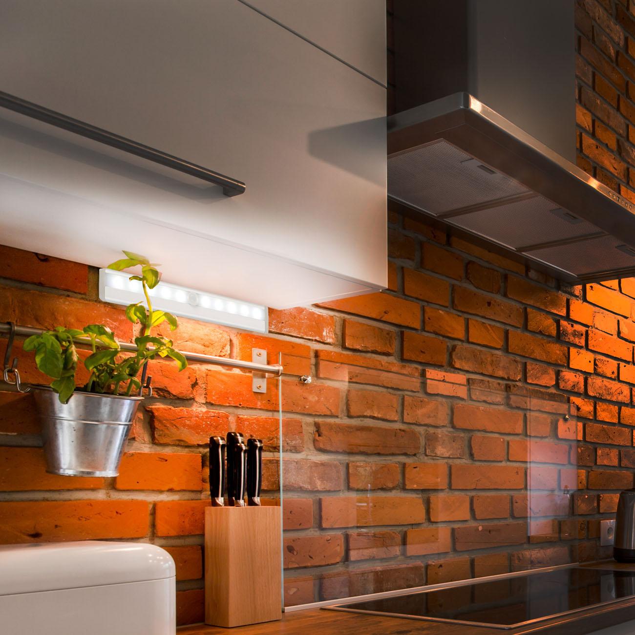 LED Schranklicht Nachtlicht mit Bewegungsmelder | 2er Set