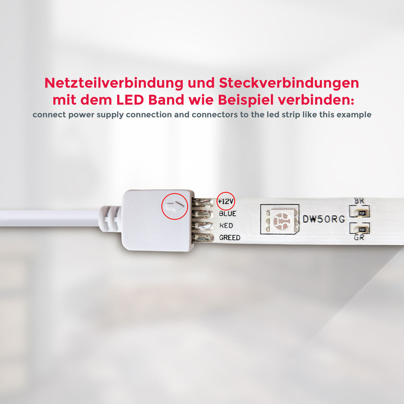 LED RGB Stripe Lichtband IP44  5m - 5
